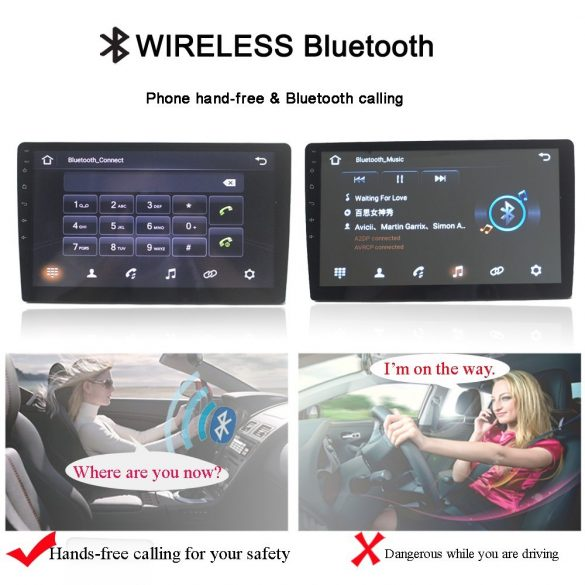 """9"""" HD érintőképernyős bluetooth autó magnó"""