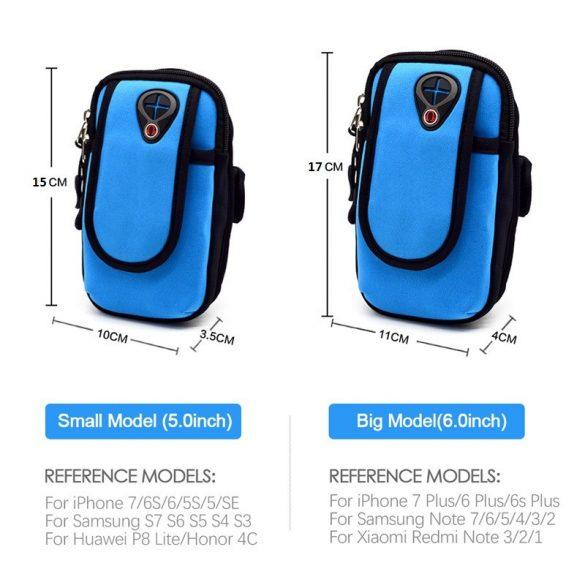 Mobiltelefon karszalag táska