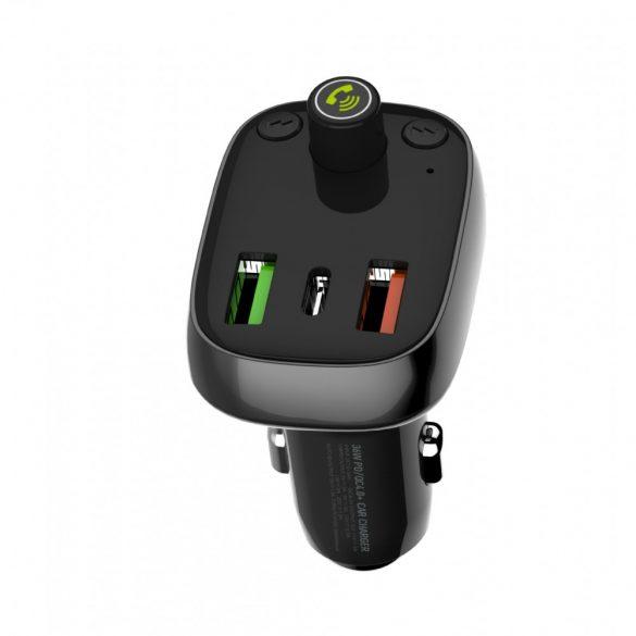 Autós bluetooth transzmitter/USB autós töltő