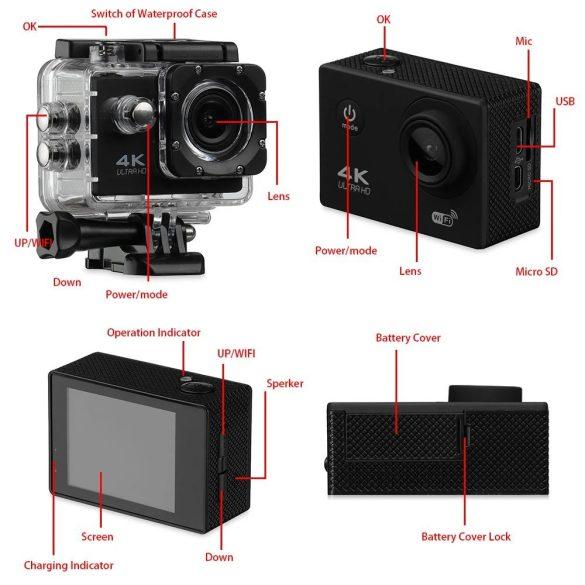 Akció Kamera 4K WIFI