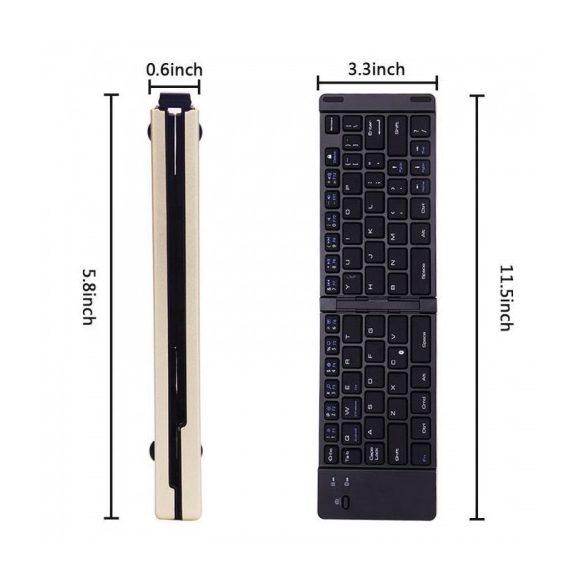 Bluetooth Összecsukható Billentyűzet F66