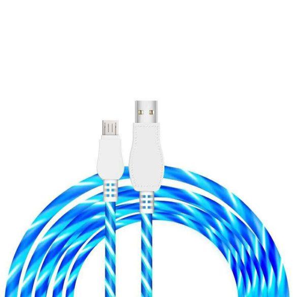 Villogós töltő kábel micro USB