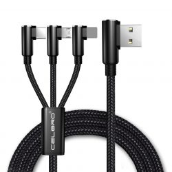 USB adat és töltőkábel 3 az 1-ben