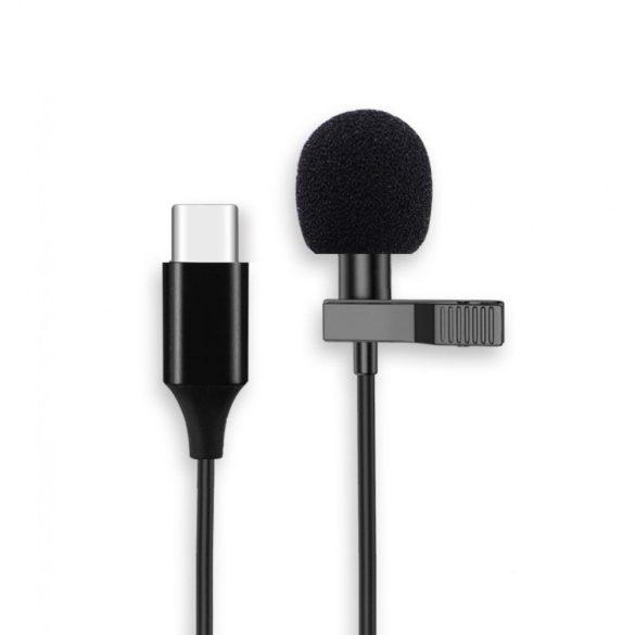Csiptetős mikrofon Type-C